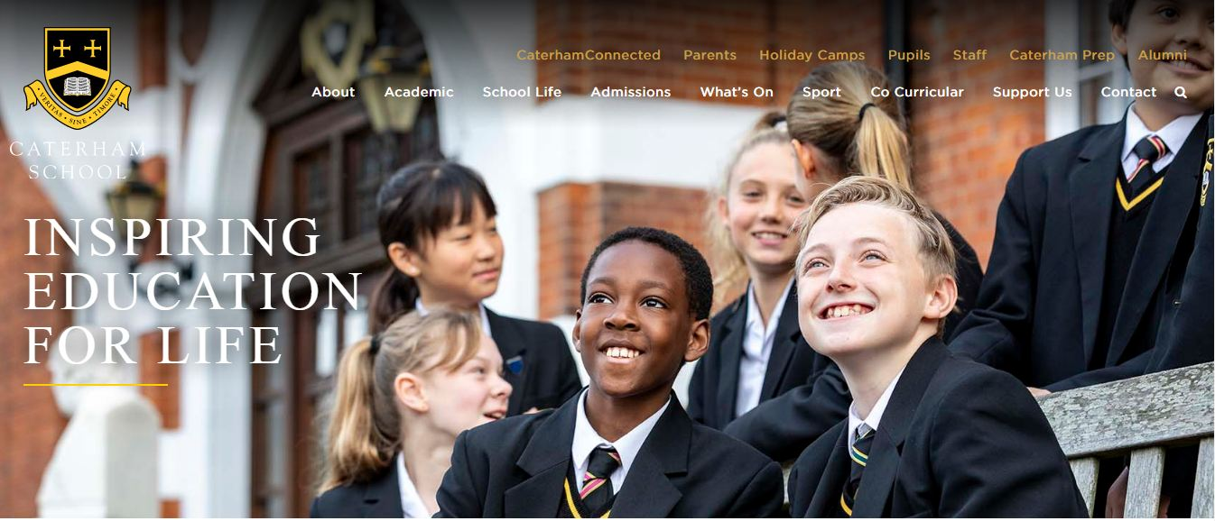 Caterham School Home Page