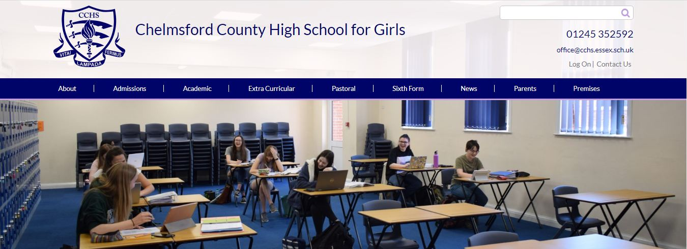Chelmsford County school home page