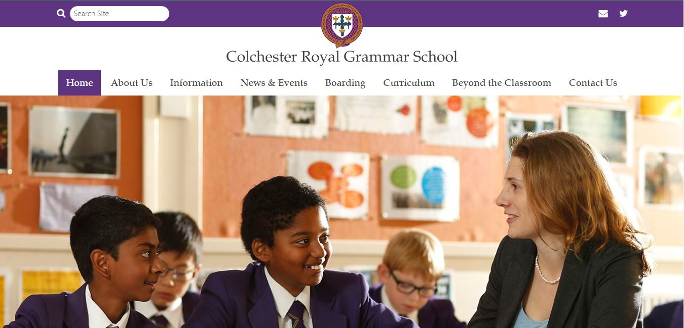 Colchester Royal Grammar School Home page