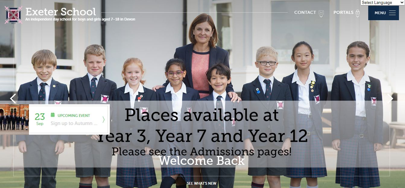 Exeter School Home Page