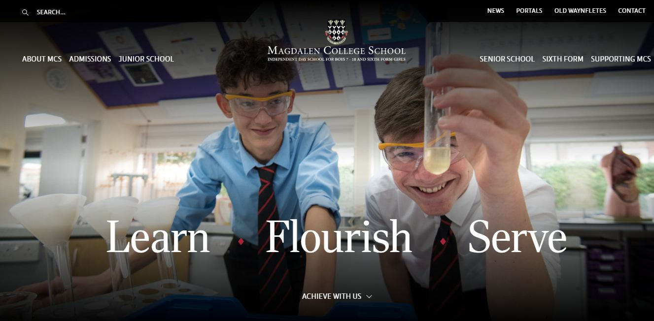 Magdalen college school home page