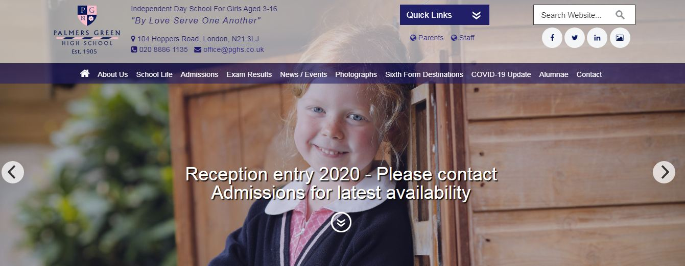 Palmers Green High School Home Page