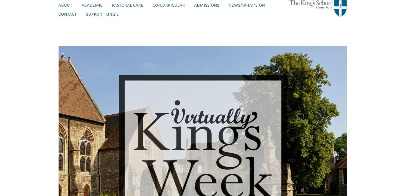 King's School, Canterbury home page