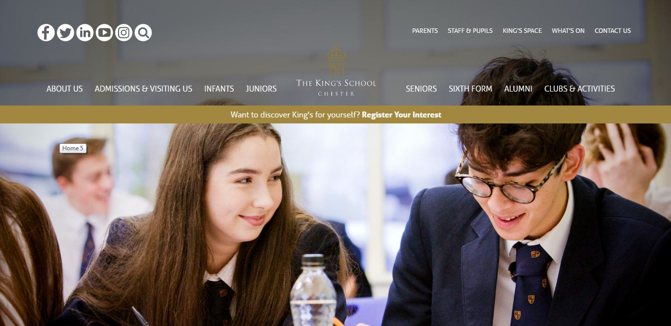 The King's School, Worcester Home page
