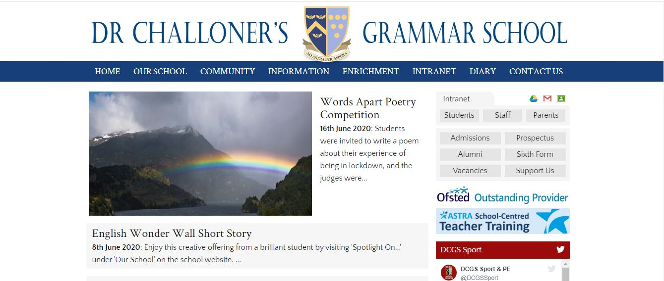Dr Challoner's Grammar School Home page