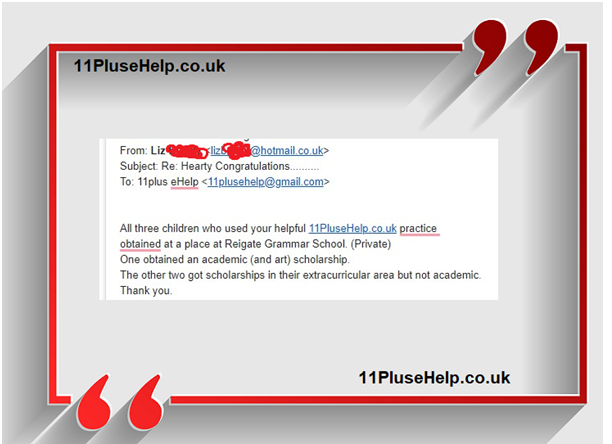 11 Plus Independent school Feedback