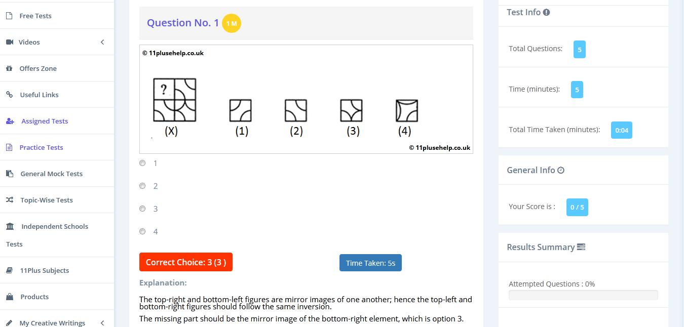 11 Plus Complete Pattern