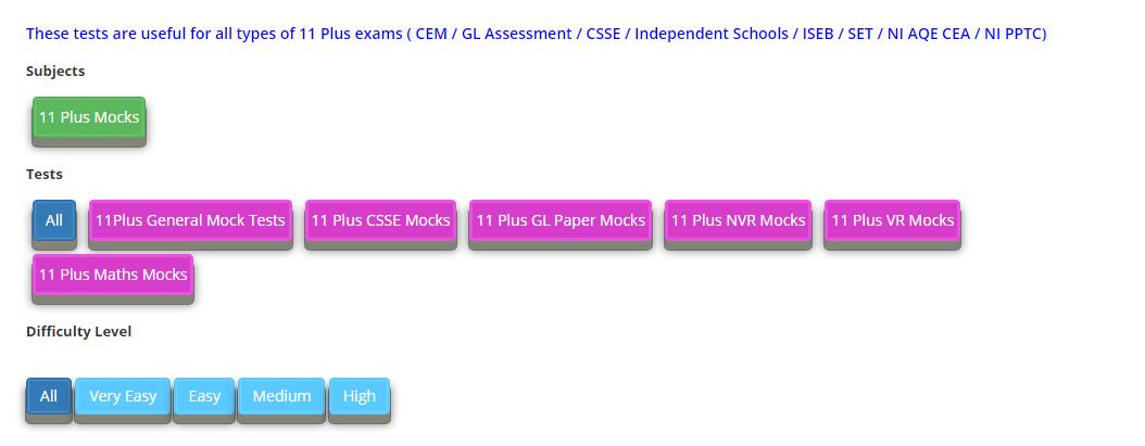 11 plus mock exams free online