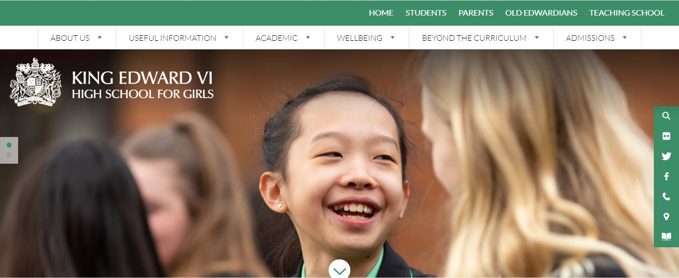 King Edward VI high school for girls home Page