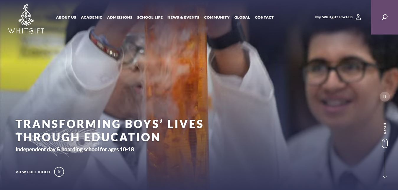 Whitgift School Home Page