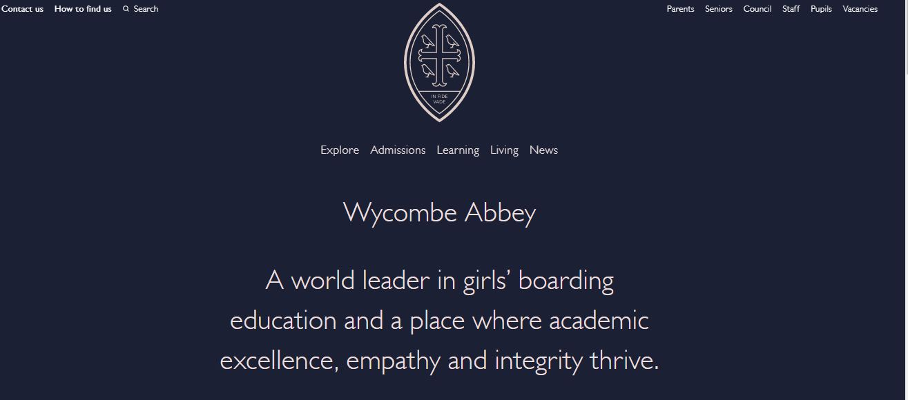 Wycombe Abbey School home page