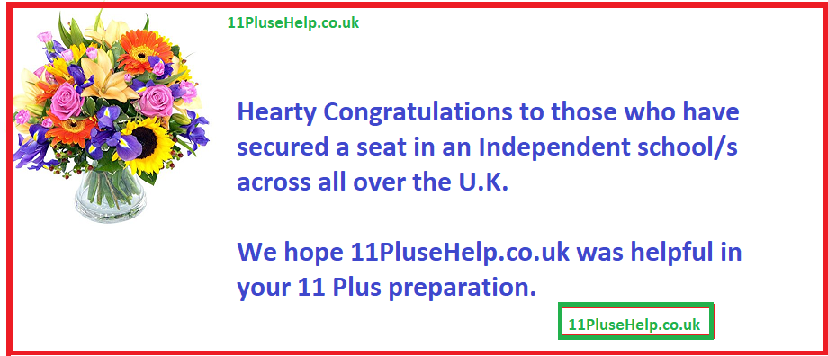 Hearty Congratulations…………   | 11 Plus Creative Writing Blog